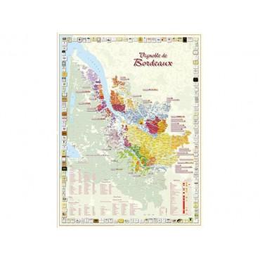 Benoit - Kaart wijngaarden Bordeaux (Gevouwen)