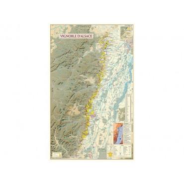 Benoit - Kaart wijngaarden Elzas (Gevouwen)