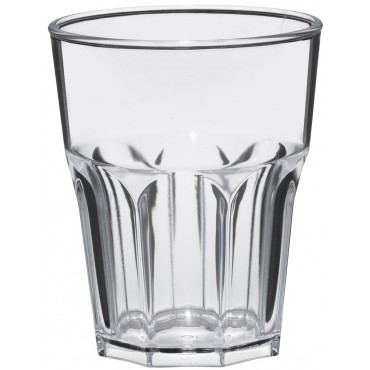 Plastic glas Tumbler Rock Shiny 300cc, pakket van 240 stuks