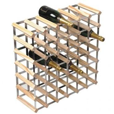 Design wijnrek blank hout 42 flessen