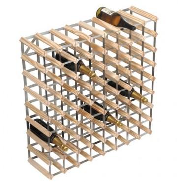 Design wijnrek blank hout 72 flessen
