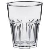 Plastic glas Tumbler Rock Shiny 300cc, pakket van 8 stuks