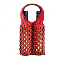 Built NY Fishnet Two Bottle Tote Ski Patrol Red & Green