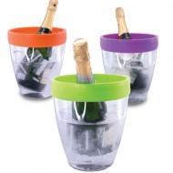 Pulltex PWC Bucket Transparant plexi met gekleurde siliconen rand