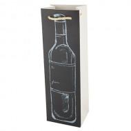 Wijnflesverpakking verticaal krijt, 10 stuks