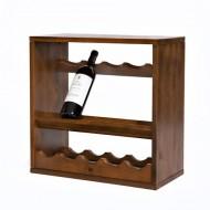 Wijnrek Kabinett 14 gebeitst en gelakt