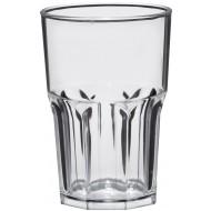 Plastic glas Tumbler Rock Shiny 400cc, pakket van 50 stuks