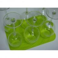 Make My Day - Volumineus Wijnglasdroog mat (Groen)