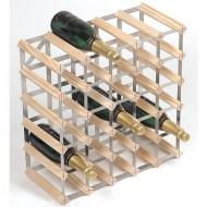 Design wijnrek blank hout 30 flessen